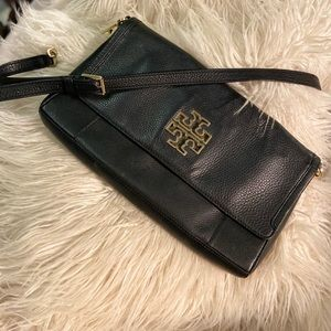 DESIGNER~ TORY BURCH BLACK SHOULDER HANDBAG